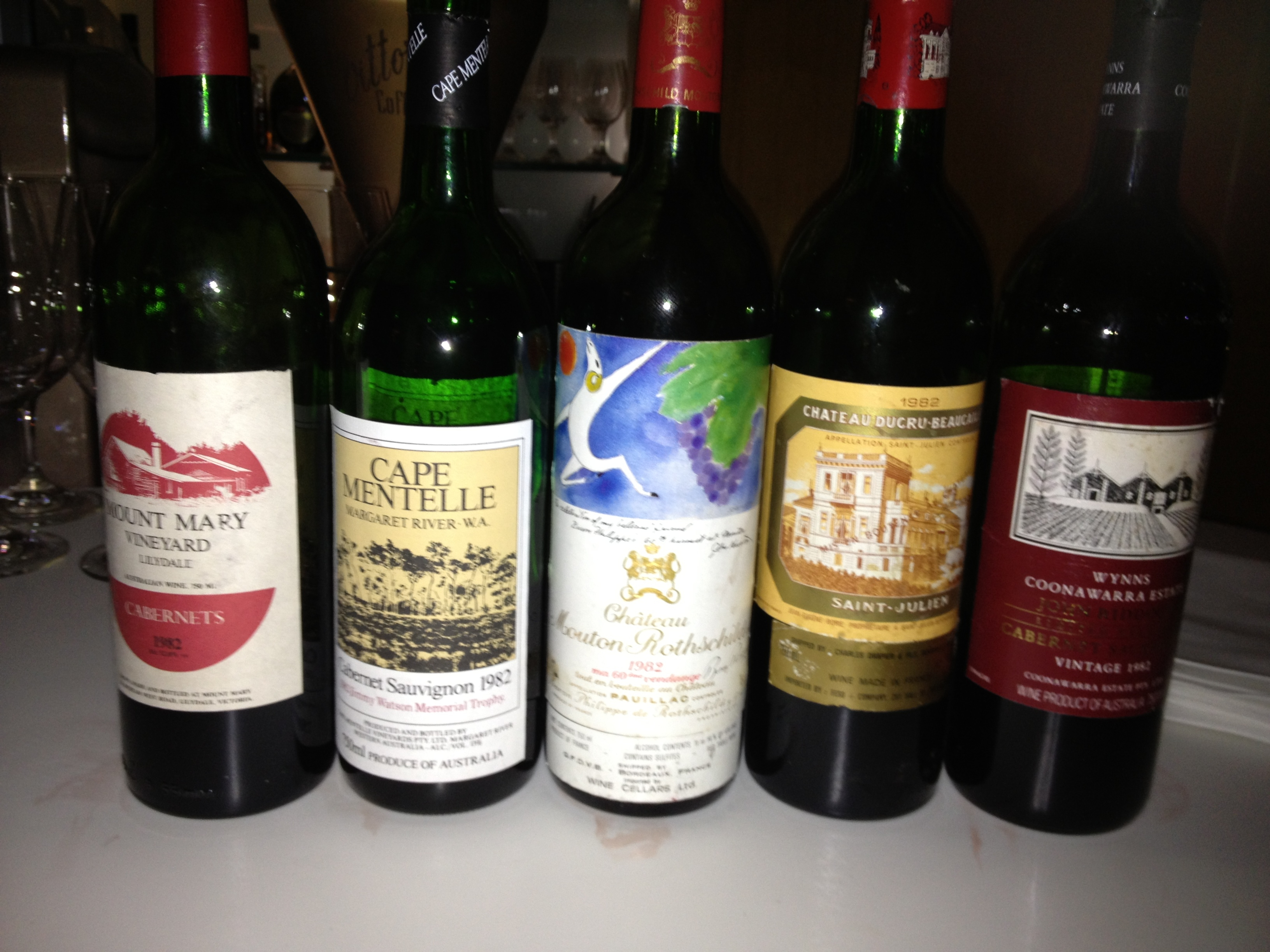 Always Loved The 82 Mouton Though Cape Mentelle And Mount Mary Are Evocative Of A Time